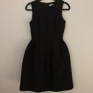 Black lace bell dress by Calvin Klein
